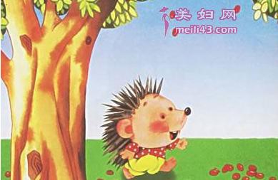 小刺猬摘果子故事