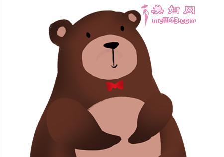 胖胖熊的小花帽故事