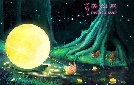 儿童故事方月亮